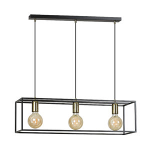 KARMEN 3 BLACK 808/3 wisząca lampa sufitowa LOFT regulowana metalowa złoto czarna